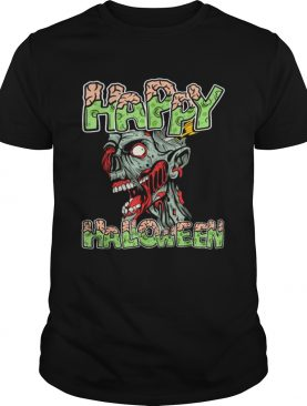 Top Happy Halloween Zombie Cartoon Funny shirt