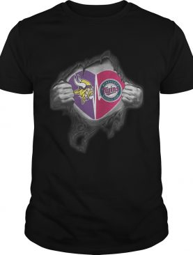 Vikings Twins Its in my heart inside me shirt