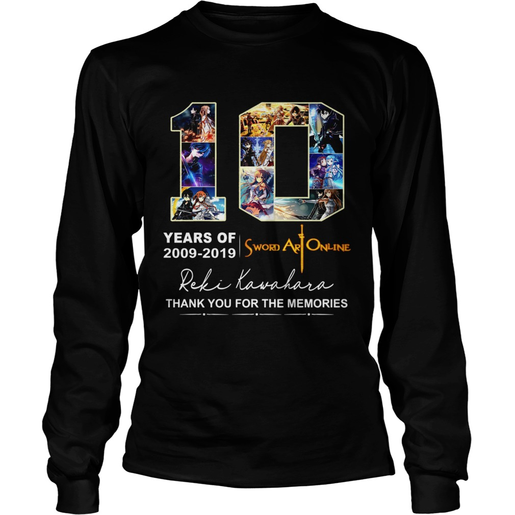 10 Years of Sword Art Online 2009 2019 thank you for the memories LongSleeve