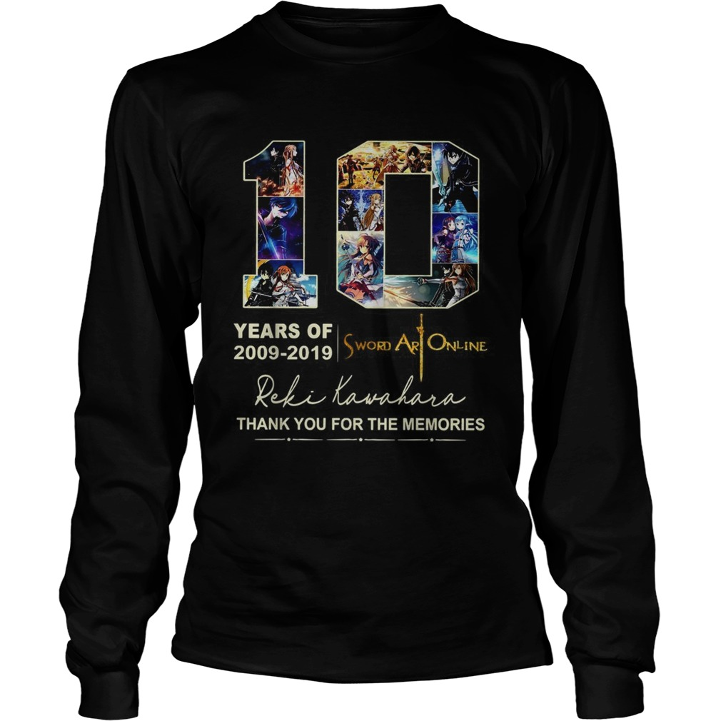10 years of 2009 2019 Sword Art Online thank you for the memories LongSleeve