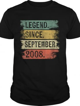Legend Since September 2008 11th Birthday Gifts 11 Year Old T-Shirt