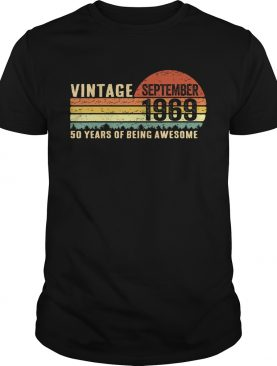 September 1969 T-Shirt Vintage 50th Birthday Gift 50 Yrs Old