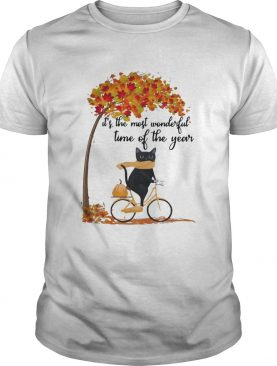 Cat riding bike its the most wonderful time of the year shirt