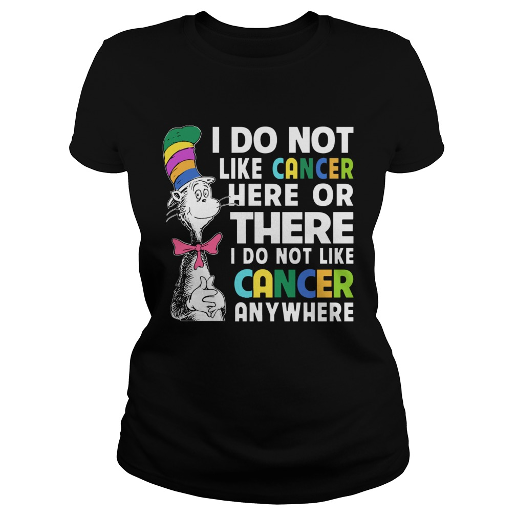 Dr Seuss I do not like cancer here or there Classic Ladies