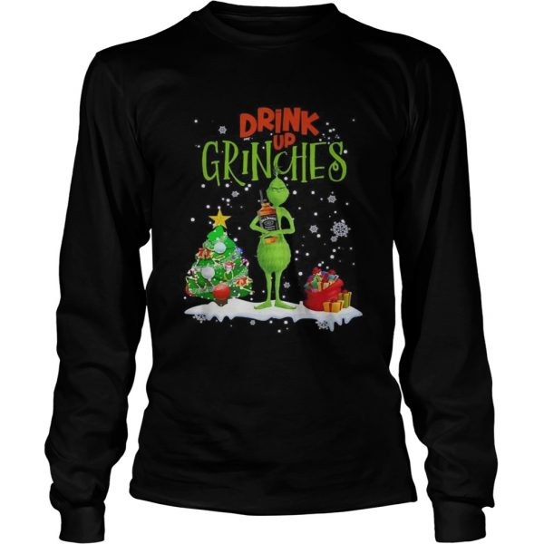 Drink up Grinches Christmas Jack Daniels  LongSleeve