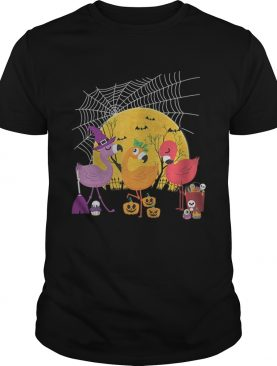 Flamingo Halloween Witch Demon Pumpkin TShirt