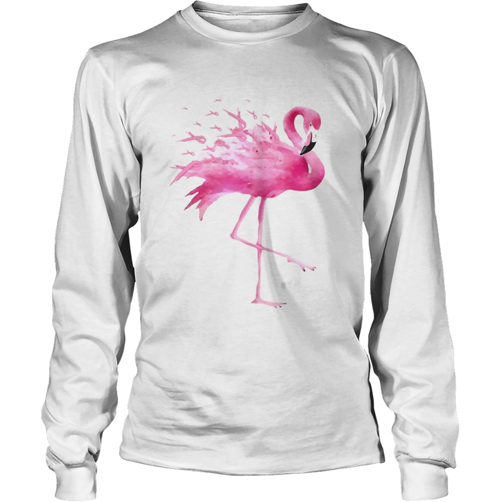 Flamingo Pink Ribbon Breast Cancer Awareness LongSleeve