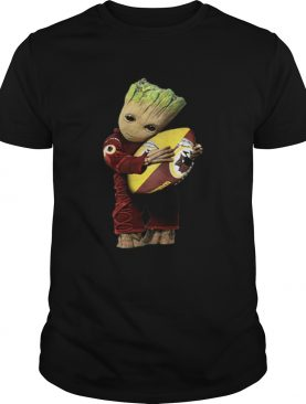 Groot hug Washington Redskins ball shirt