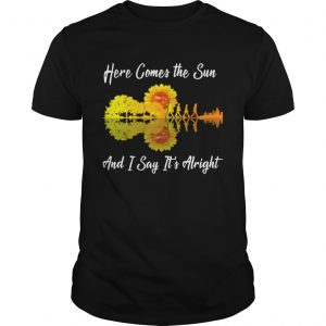Here comes the sun and I say its alright sunflower guitar  Unisex