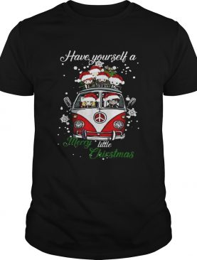 Hippie car Harry Potter Have yourself a Merry little Christmas shirt