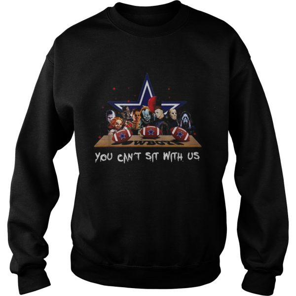 Horror Movies characters you can sit with US Cowboys  Sweatshirt