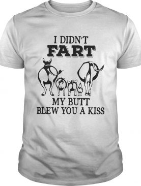 I didnt fart my butt blew you a kiss shirt