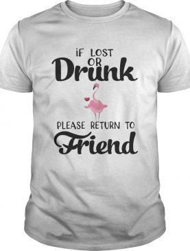 If Lost Or Drunk Please Return To Friend Flamingo Tshirts