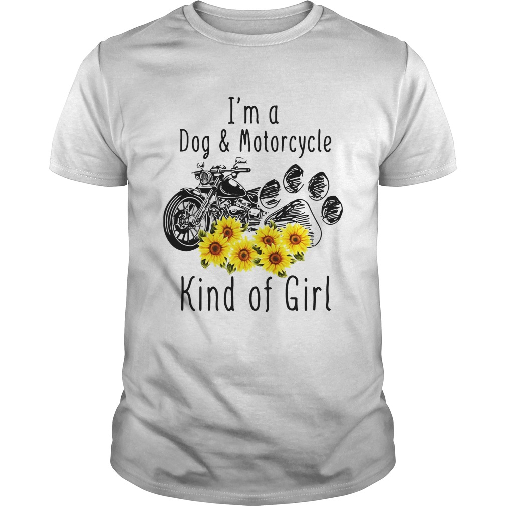 Im a dog and motorcycle kind of girl sunflower Unisex