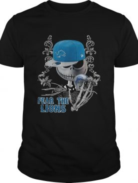 Jack Skellington Fear the Detroit Lions shirt