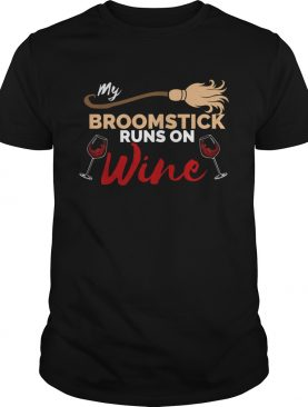 My Broomstick Runs on Wine Halloween TShirt