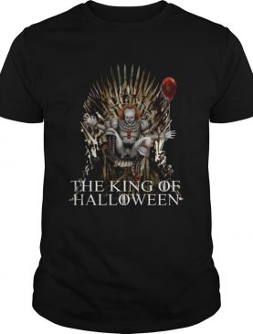 PENNYWISE IT THE KING OF HALLOWEEN IRON THRONE TEE SHIRT