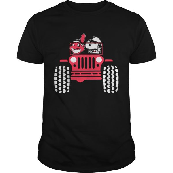 Snoopy and Cleveland Indians driving Jeep  Unisex