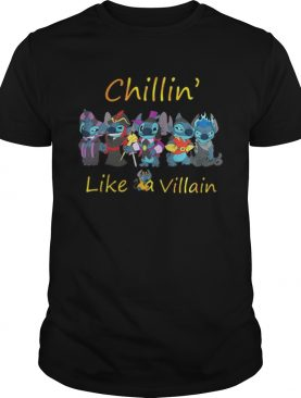 Stitch chillin like a villain shirt