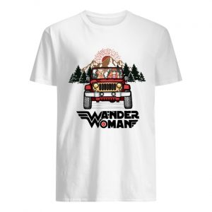 Wander woman and Dogs driving Jeep go camping  Classic Men's T-shirt
