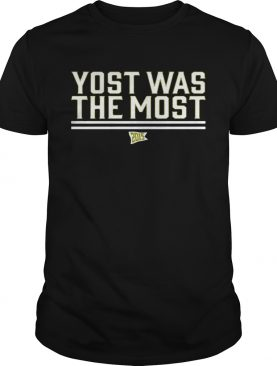 Yost Was The Most TShirts