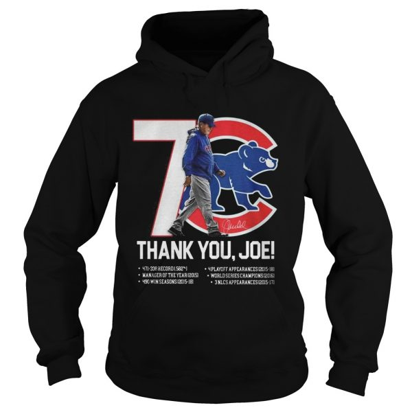 7 Chicago Cubs thank you Joe Maddon Rumors  Hoodie