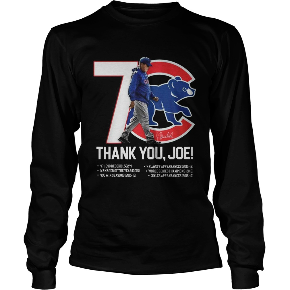 7 Chicago Cubs thank you Joe Maddon Rumors  LongSleeve