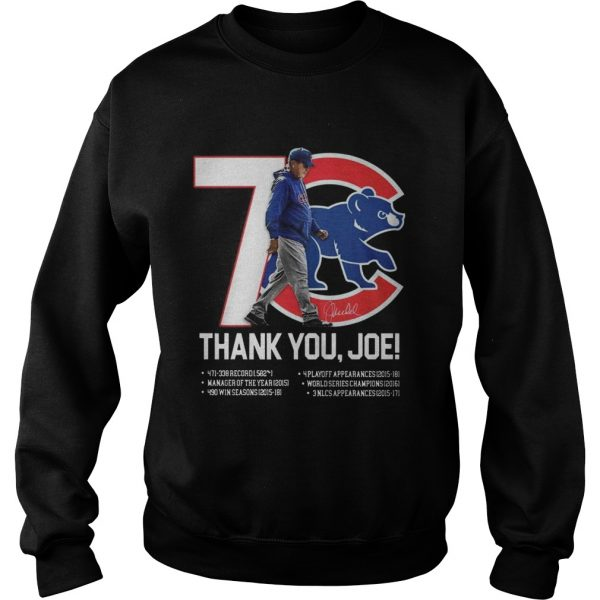 7 Chicago Cubs thank you Joe Maddon Rumors  Sweatshirt