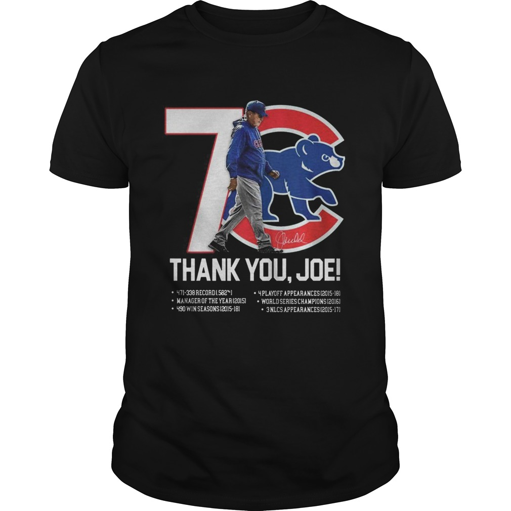 7 Chicago Cubs thank you Joe Maddon Rumors  Unisex