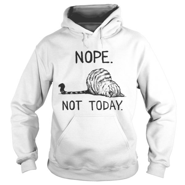 Cat lazy nope not today  Hoodie