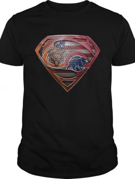 Chicago Bears Superman Logo Chicago Cubs shirt