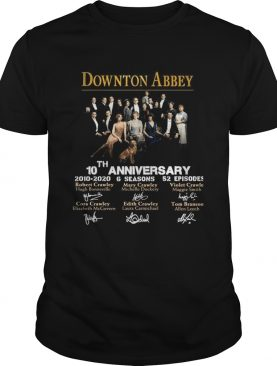 Downton Abbey 10th Anniversary 20102020 6 seasons 22 episodes signatures shirt