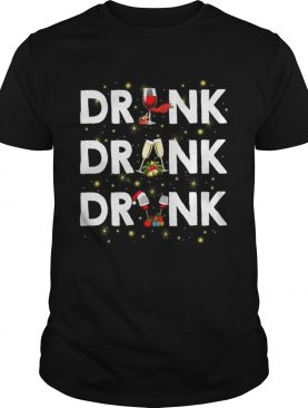 Drink drank drunk wine Christmas shirt