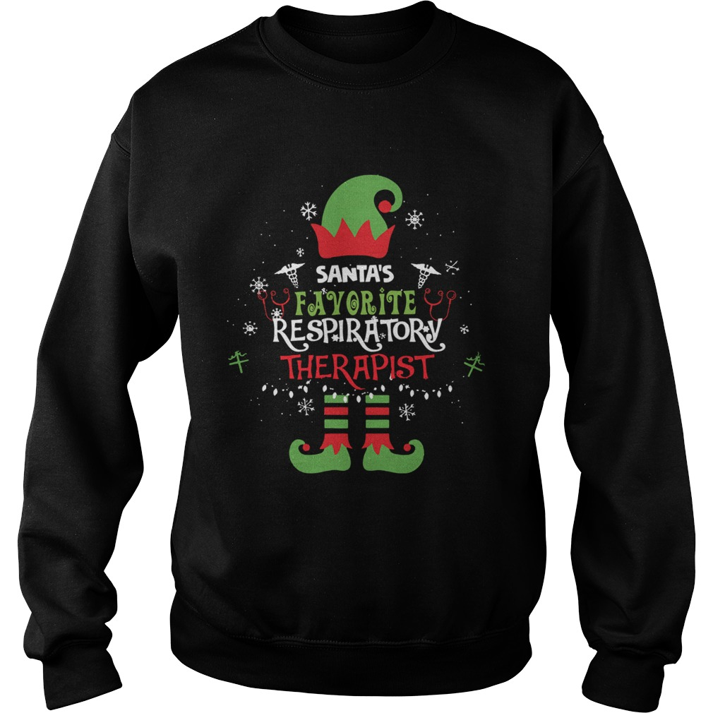 ELF Santas Favorite Respiratory therapist  Sweatshirt