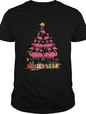 Flamingo Tree Ugly Christmas Funny TShirt