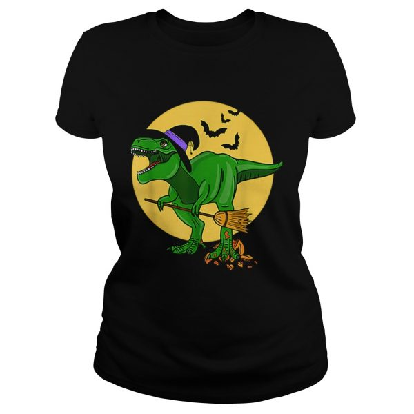 Halloween T Rex Dinosaur in Witch Costume Funny Boys Girls  Classic Ladies