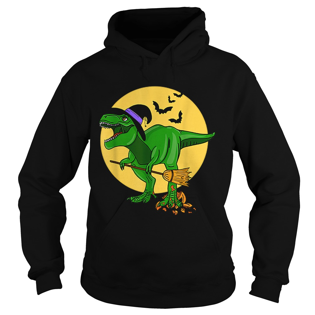 Halloween T Rex Dinosaur in Witch Costume Funny Boys Girls  Hoodie