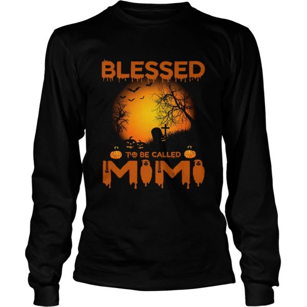 Halloween Women Mom Blessed To Be Called Mimi TShirt LongSleeve