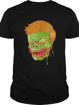 Halloween angry zombie face shirt