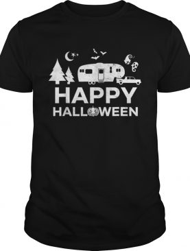 Happy Halloween Camping Fifth Wheel Camper RV Vacation shirt