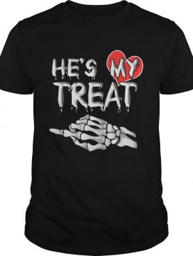 Hes my Treat Matching couples Halloween His and Her Funny shirt