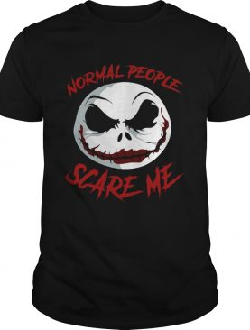 Jack Skellington Joker normal People scare me shirt