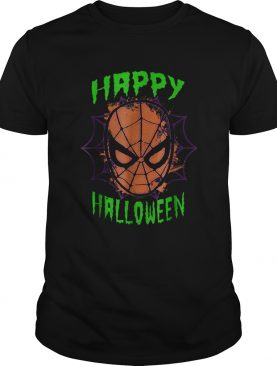 Marvel SpiderMan Mask Happy Halloween Graphic shirt