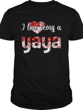 Merry Christmas I Love Being A Yaya Gift For Xmas TShirt