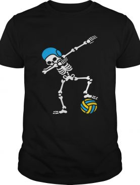 Nice Dab dabbing skeleton Water polo Halloween swim shirt