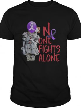 No one fights alone Pennywise alzheimer awareness tshirt