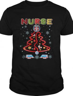 Nurse Christmas Tree Merry Xmas Gift TShirt