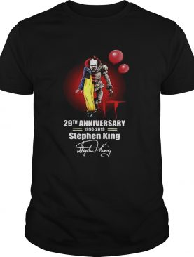 Pennywise it 29th anniversary 1990 2019 Stephen King shirt