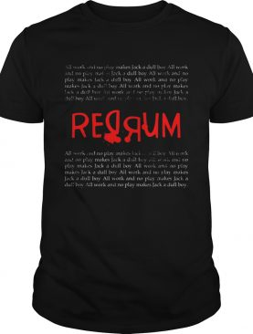 REDRUM Scary Vintage Horror Movie QuoteHalloween shirt