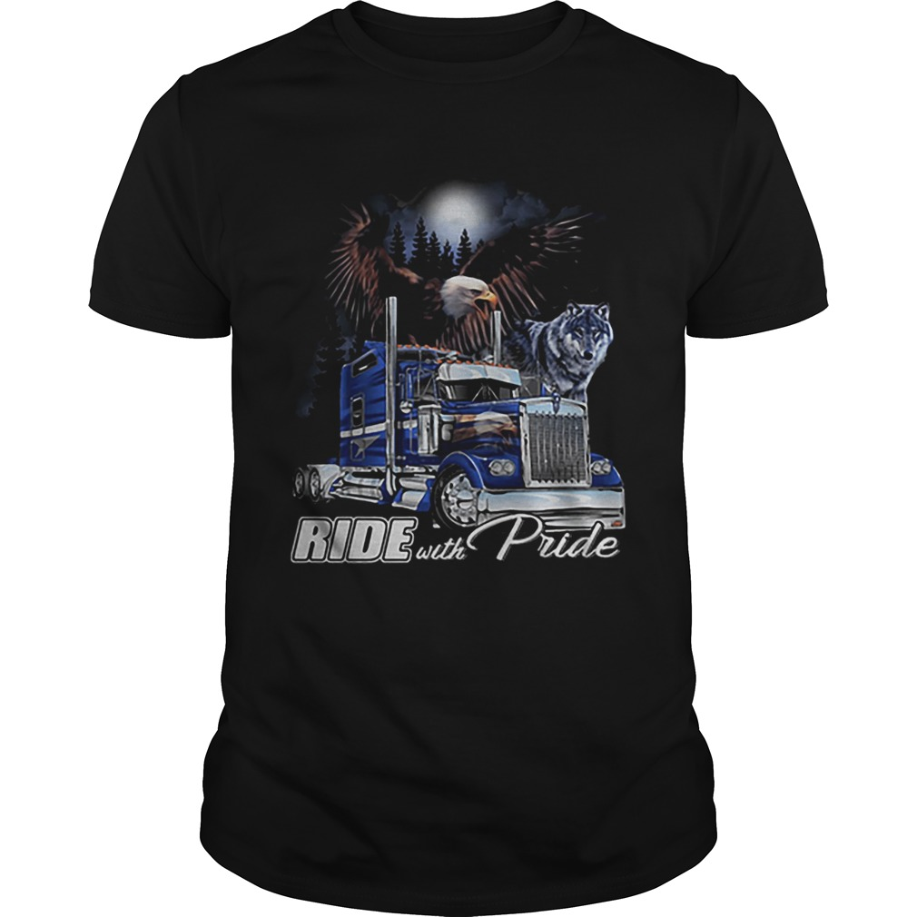 Ride with Pride Semi Truck Eagle Wolf  Unisex